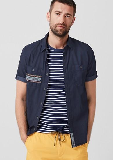 Tall Size: overhemd met een garment wash