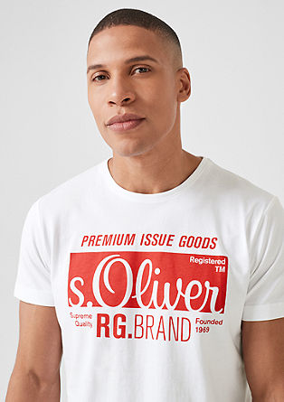 Jersey T-shirt with label print from s.Oliver