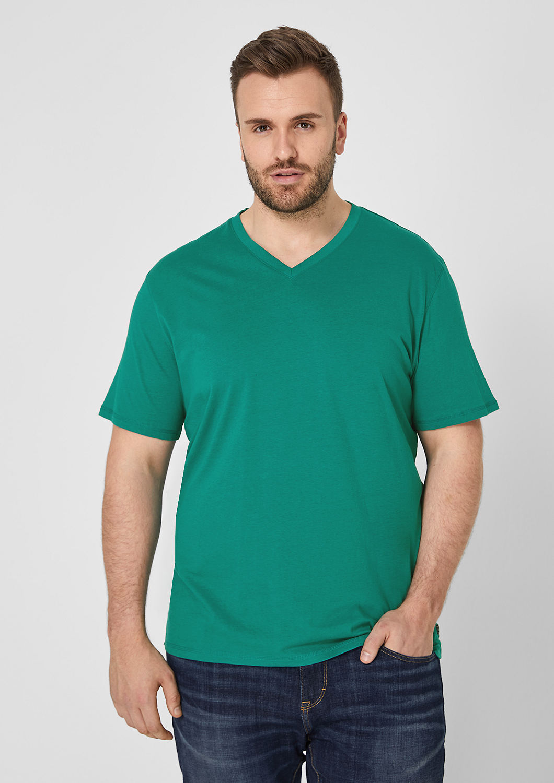 s.Oliver - Jerseyshirt mit V-Ausschnitt - 1