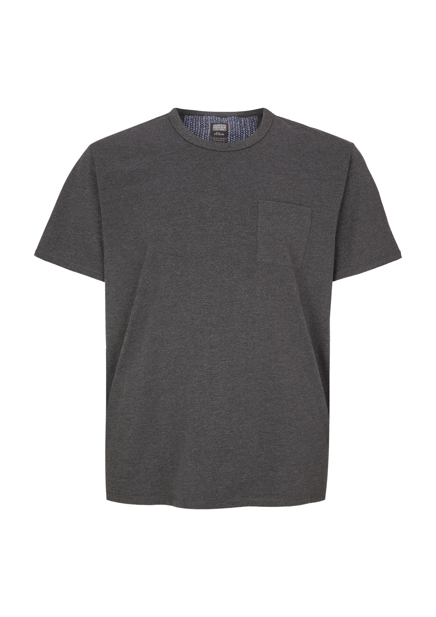 T-Shirt | Bekleidung > Shirts > Sonstige Shirts | Grau | 60% baumwolle -  40% polyester | s.Oliver Men Big Sizes