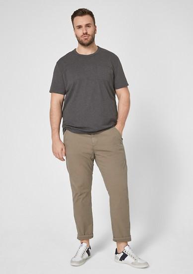 Jerseyshirt mit seitlichem Streifen
