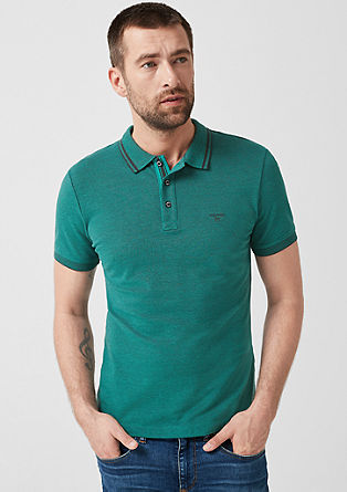 Tall Size: melange polo shirt from s.Oliver