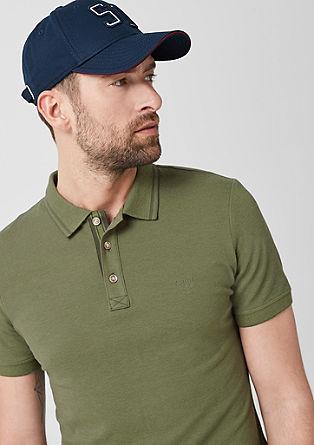 Tall Size: Meliertes Poloshirt