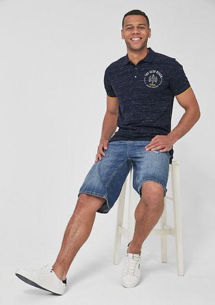 Tall Size: Poloshirt met surferprint