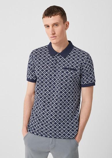 Tall Size: Poloshirt mit Musterprint