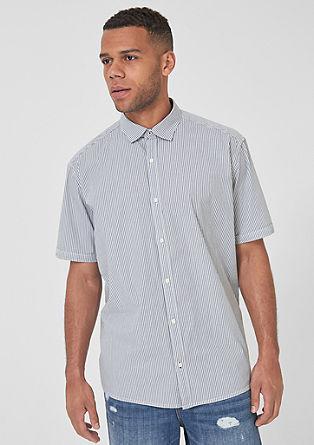 Regular: overhemd met korte mouwen en stretch