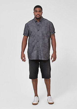 Regular: overhemd met korte mouwen en print