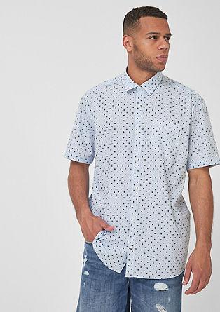 Regular:overhemd met korte mouwen en motief