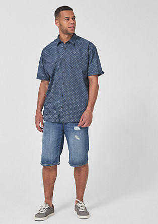 Regular:patterned short sleeve shirt from s.Oliver