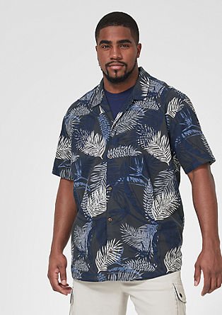 Regular: Shirt with a floral pattern from s.Oliver