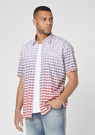 Regular: Check shirt with colour graduation from s.Oliver