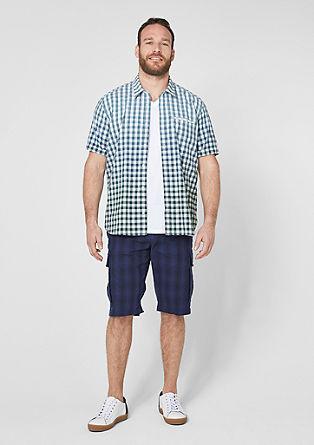 Regular: geruit overhemd met kleurverloop
