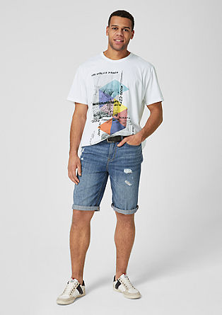 T-Shirt mit Desert-Print