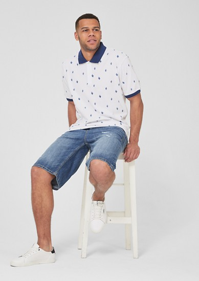 Poloshirt mit Musterprint