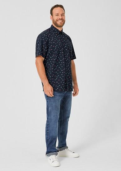 Regular: Kurzarmhemd mit Musterprint