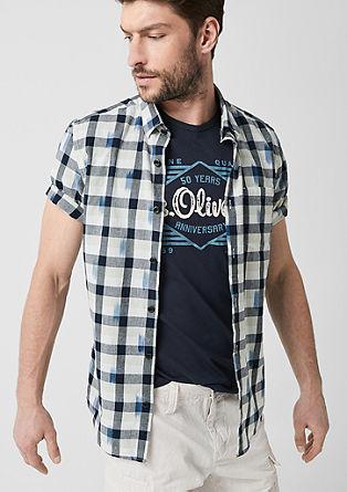 Tall Size: košile skárovaným vzorem
