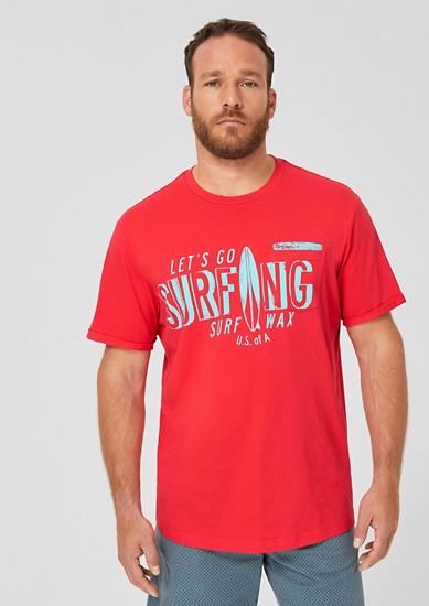Jerseyshirt mit Surfer-Print
