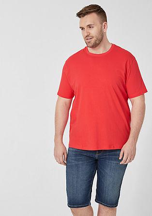Basic shirt met ronde hals