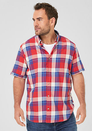 Regular: Short sleeve, colourful check shirt from s.Oliver