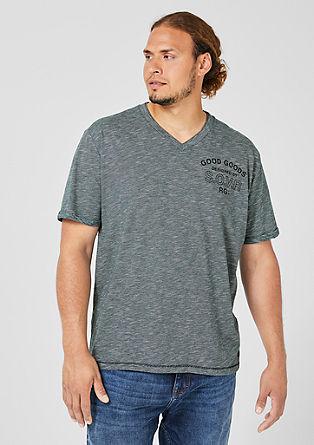Fein gestreiftes V-Neck-Shirt