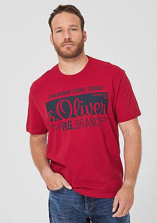Jerseyshirt mit Labelprint