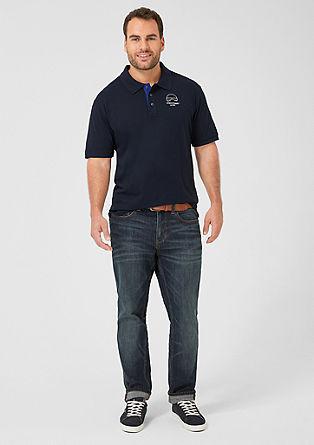 Poloshirt aus feinem Jersey