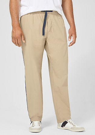 Tubx Jogger: trousers with stripe details from s.Oliver