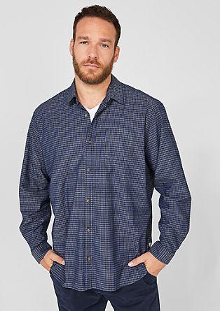 Regular: Gemustertes Baumwollhemd