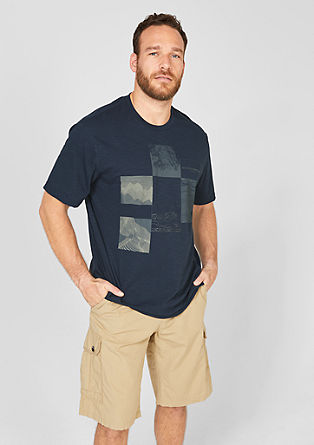 Flammgarnshirt mit Frontprint