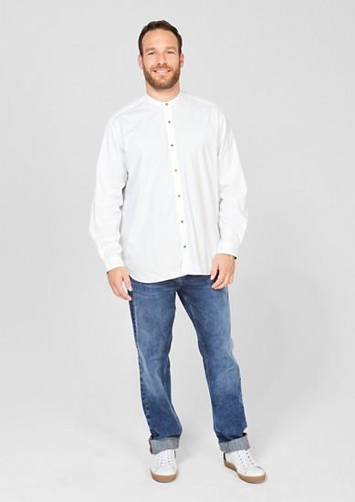 Regular: Hemd mit Stehkragen