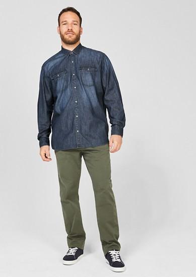 Regular: Jeanshemd mit Waschung