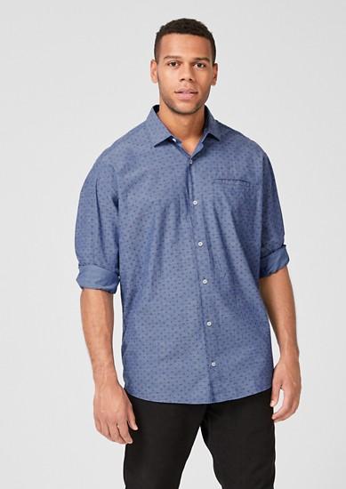 Regular: Hemd mit Musterprint