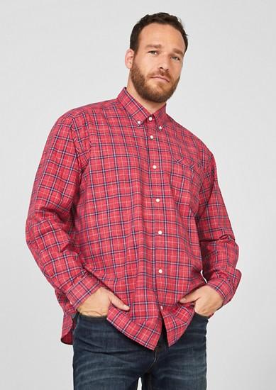 Regular: Hemd mit Button Down-Kragen