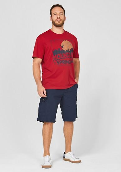 T-shirt en jersey à imprimé sur le devant de s.Oliver