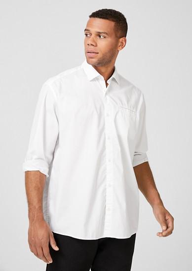 Regular fit: overhemd met stretch en motief