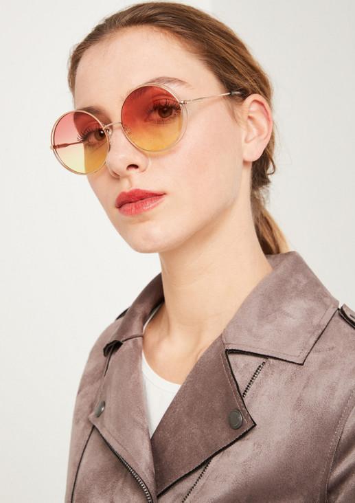 Rundbrille mit mehrfarbigen Gläsern