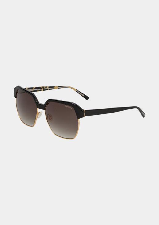 Extravagante Brille mit sechseckigen Gläsern