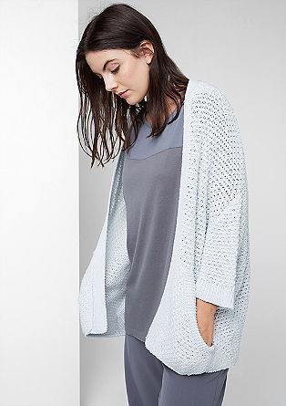 Glittery cardigan in a textured knit from s.Oliver