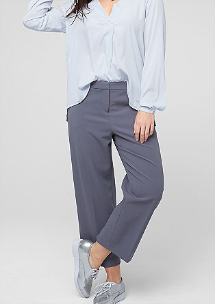 Wide 7/8-length stretch trousers from s.Oliver