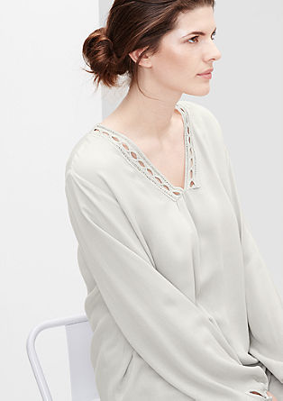 Tunic blouse with a decorative border from s.Oliver
