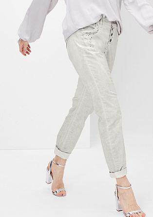 Fancy Fit: 7/8 Jeans mit Nieten