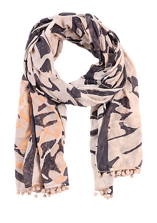 Cotton scarf with lurex from s.Oliver