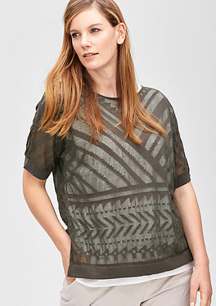 Sheer knit top from s.Oliver