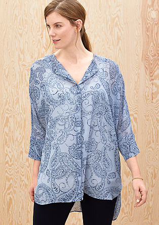 Chiffon blouse met all-over print