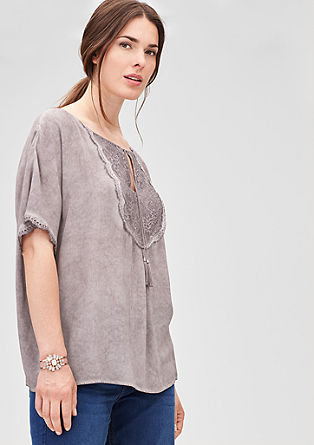 Delicate boho blouse with lace from s.Oliver