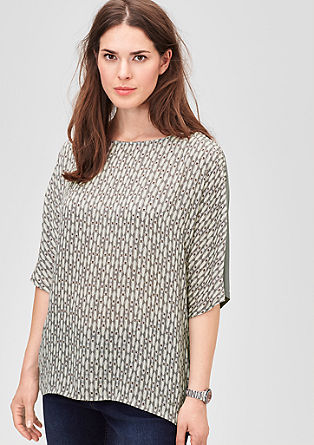 Patterned blouse with 3/4-length sleeves from s.Oliver