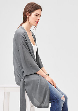 Long, shimmering fine knit cardigan from s.Oliver