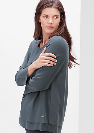 Blouse top in a layered look from s.Oliver