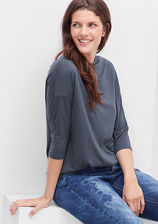 High-fastening lyocell top  from s.Oliver
