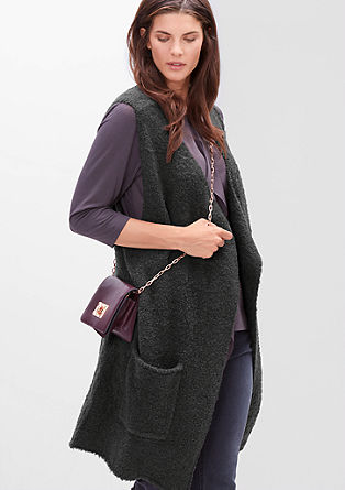 Cardigan with a bouclé finish from s.Oliver